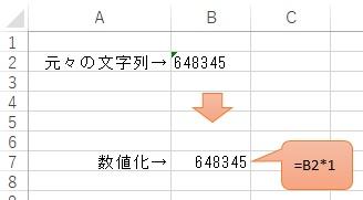 文字列を数値に変換